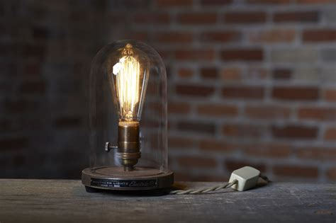 Vintage Cloth Lamp Cord by The Original Bell Jar Table Lamp