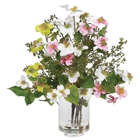 silk flower arrangements nearly natural dogwood silk flower arrangement faux