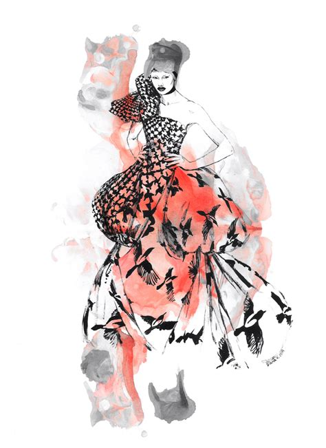 fashion illustration mcqueen in with mcqueen on behance