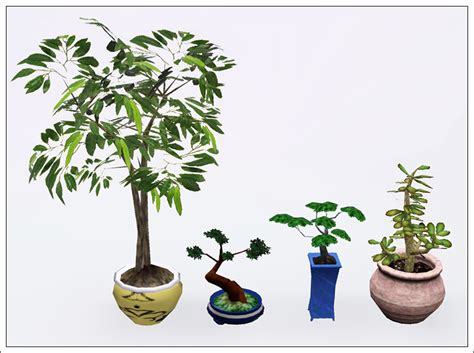 empire sims 3 3 small potted plants by lisen801 mod the sims good old plants updated for wa