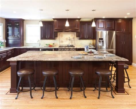 blonde cabinets kitchen rich cherry cabinets blonde hardwood floors large island