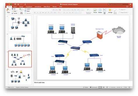 how to add a computer network diagram to a powerpoint