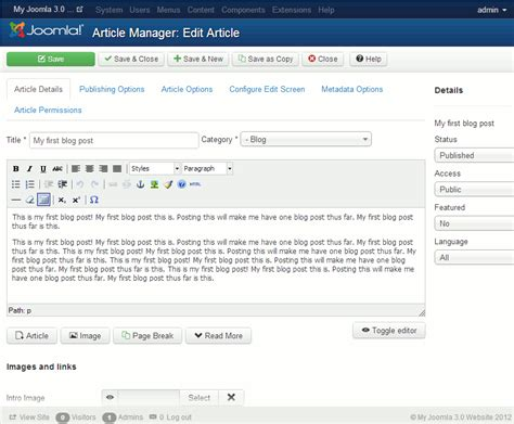 build blog how to write a blog post in joomla 3 1 inmotion hosting