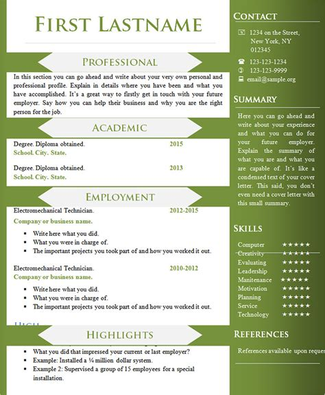 Different Resumes Format by 70 Basic Resume Templates Pdf Doc Psd Free