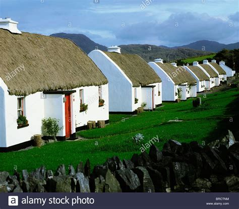 cottages in galway tullycross co galway ireland cottages stock