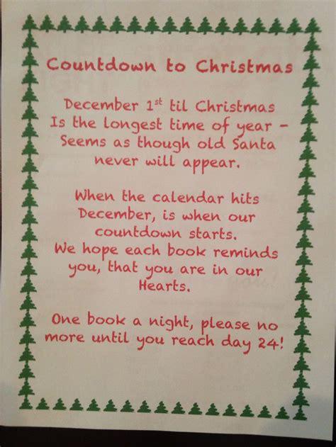 Calendar Rhyme Countdown To Book Advent Calendar Poem Craft