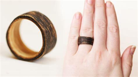 diy wood ring diy two tone wooden ring