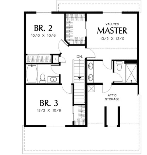 simple house plans to build simple to build 69179am 2nd floor master suite cad