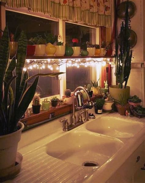 witch home decor 25 awesome ways to use string lights in kitchens digsdigs