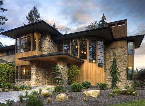 stone and wood house plans modern stone exterior homes google search residential