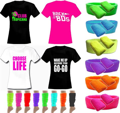 80s Accessories by 80s Deal Womens Slogan T Shirt Neon Accessories