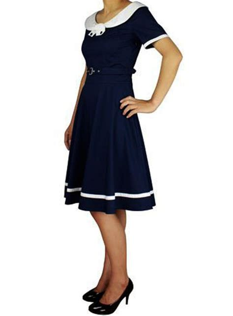 swing costumes rk80 rockabilly sailor retro nautical costume dress pin up