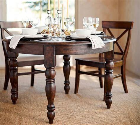 Evelyn Extending Round Dining Table Pottery Barn Pottery Barn Dining Table
