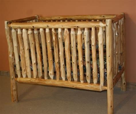 Log Baby Cribs Log Furniture Barnwood Furniture Rustic Furniture