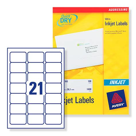 label template 21 per sheet buy avery address labels inkjet 21 per sheet