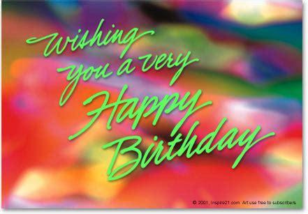 Wish You A Happy Birthday Happy Birthday Inspire 21