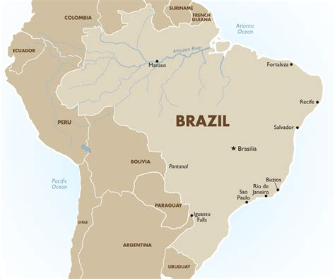 south america map brazil brazil travel information and tours goway travel