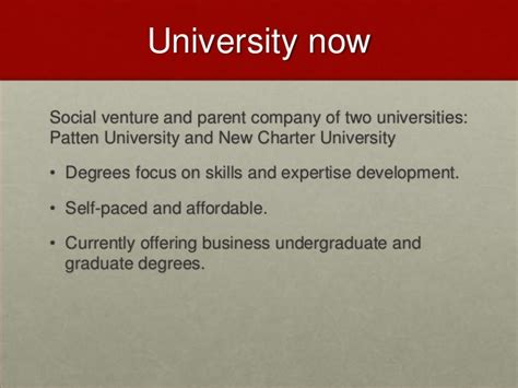 patten university masters programs guide association 2013 competency based education