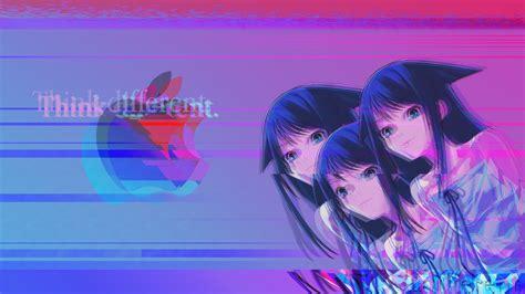 Anime Vaporwave by Wallpaper Vaporwave Anime Logo Saya No Uta
