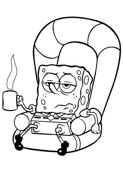 lazy person coloring page pin ghetto spongebob on pinterest