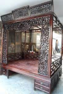 Antique Canopy Beds Wood Exquisite Antique Rosewood Carved Canopy Bed