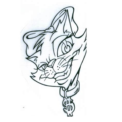 cat tattoo flash cat bling cats tattoo design art flash pictures images