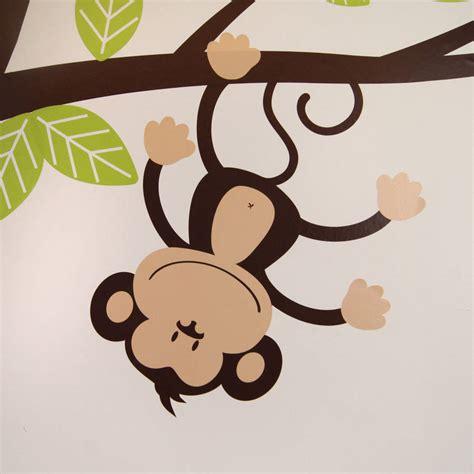 monkey wall sticker childrens cheeky monkey tree wall stickers by parkins
