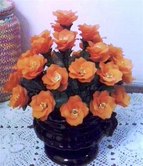 Bunga Mawar Sekop Akrilik pusat kerajinan tangan manik manik akrilik mote bunga rumpun dan vas