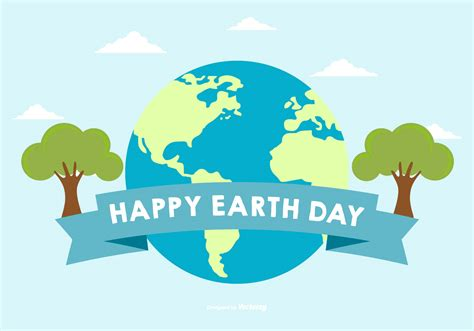 happy earth day illustration download free vector art