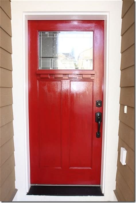 a front door makeover from brown to glidden trim door paint momstart
