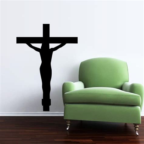new diy cross christian characters vinyl wall stickers free shipping religion vinyl wall decal christian jesus