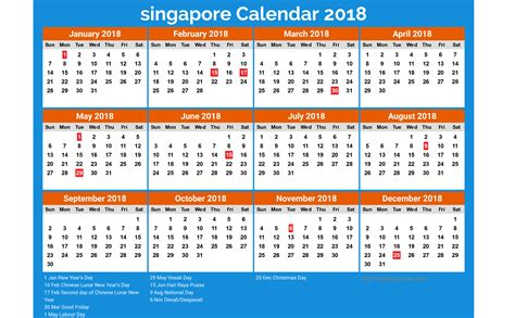 printable calendar singapore new year 2018 calendar singapore 28 images january