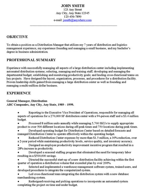 Resume Objectives General Resume Objective Exles Resume Cv