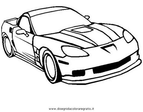 side view corvette coloring pages