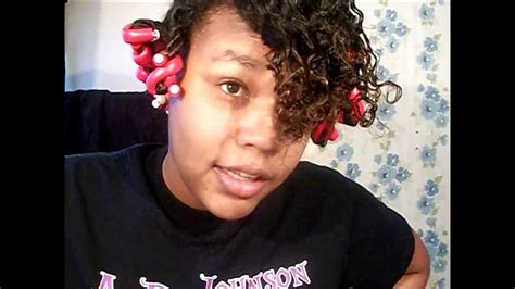 three strand twist out on relaxed transitioning hair