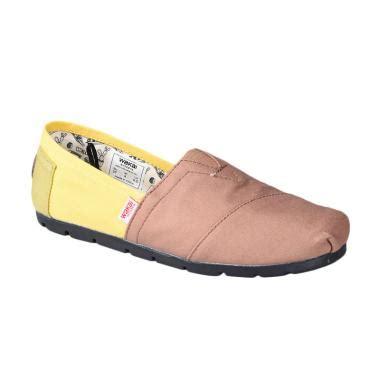 Sandal Sepatu Wakai jual wakai cw01609 mitsu sepatu wanita brown yellow