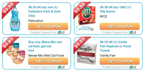 Coupons For Vanity by New Printable Coupons Palmolive Dish Soap Ritz Crackers