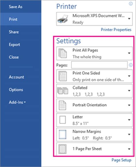 reset all printer settings windows 7 print and preview documents word