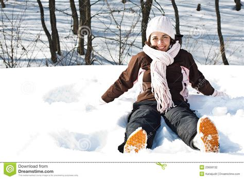Hotpants Snow Destroy sitting in snow stock photo image 23658132