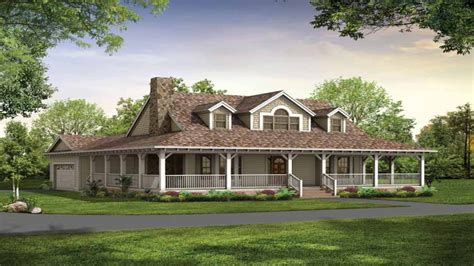 Single Story Country House Plans by Country House Plans With Wrap Around Porch Country House