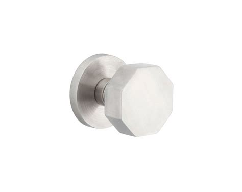 stainless steel octagon knob lock sets