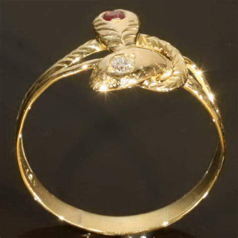 Two Headed Snake Ring by Two Headed Snake Ring With Mine Cut