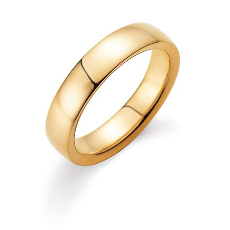 Wie Ring Polieren by Herrenring Modern 5mm In 14k Gelbgold 585 Poliert
