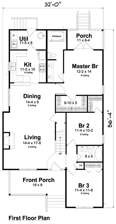 traditional floor plan traditional house plan 74002