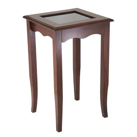 Accent Table With Storage Winsome 174 Carisa Storage Accent Table 151337 Living Room At Sportsman S Guide