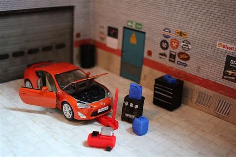 toyota car garage toyota gt86 diecast model car 1 36 garage diorama workshop