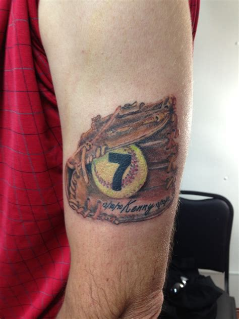 softball tattoos softball memorial for my clients by wojo