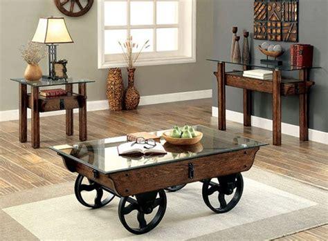 industrial coffee table set cm4318 industrial looking coffee table set