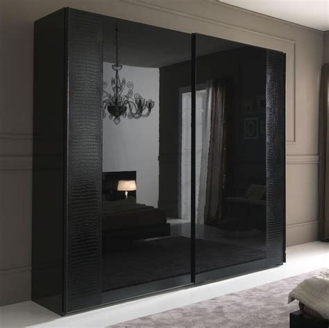 Sliding Door Armoire Nightfly Black 2 Door Sliding Wardrobe Armoires