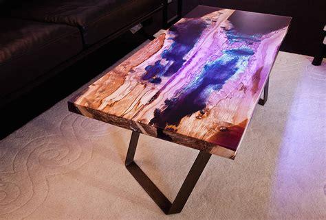 wood and resin table beautiful resin wood design tables fubiz media